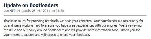 HTC Bootloader Facebook
