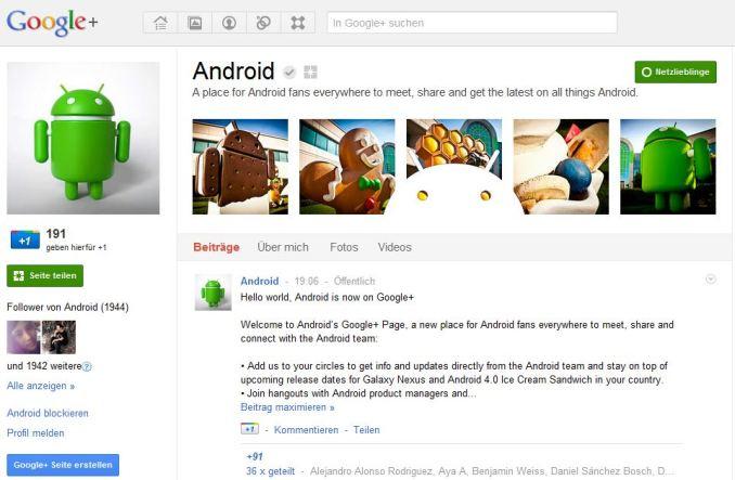 google-plus-android-seite