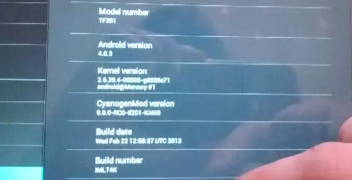 cyanogenmod 9 transformer prime video