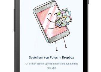 dropbox-500mb speicher