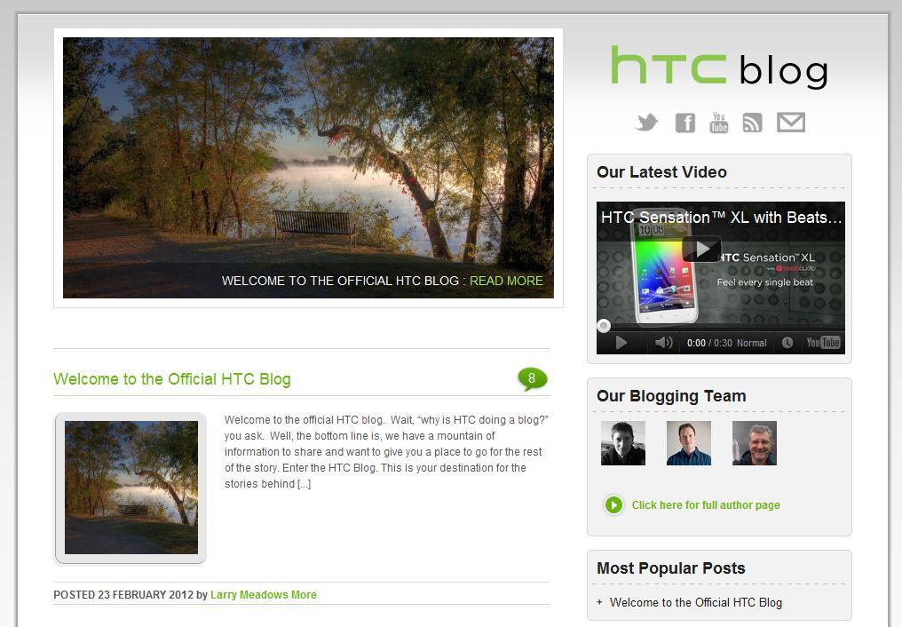 htc blog screenshot
