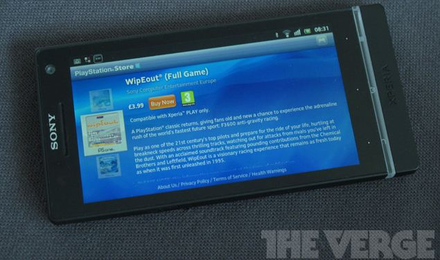 xperia s playstation store