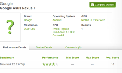 asus nexus 7 benchmark-leak