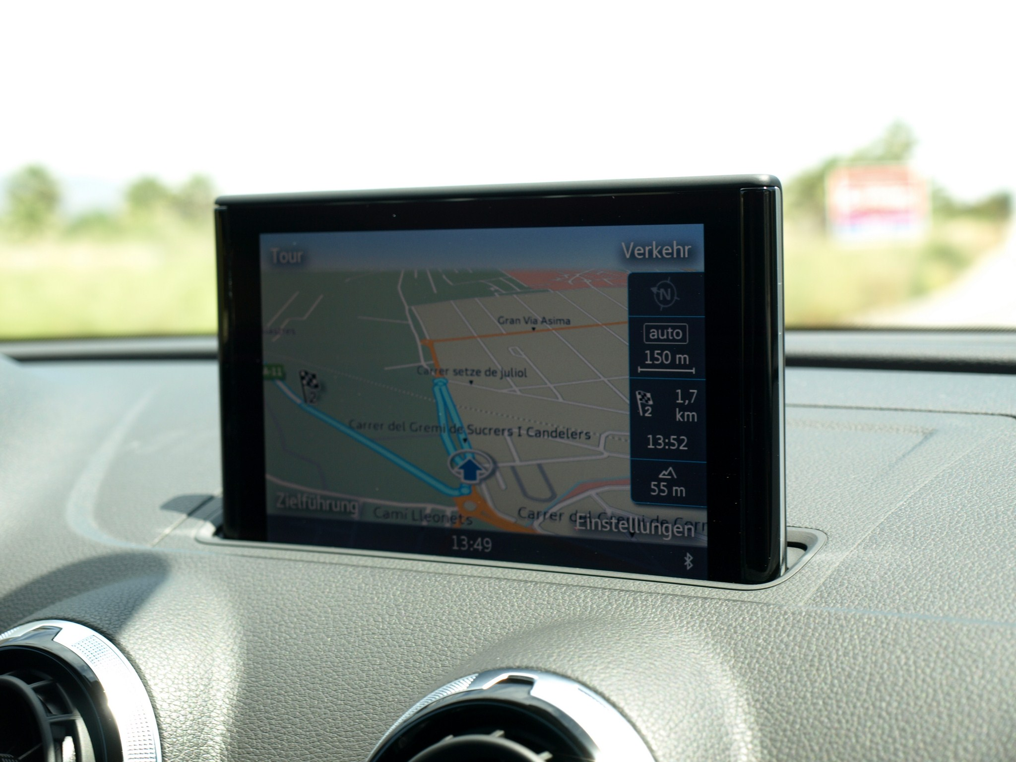 Audi A3 Navigation-Display
