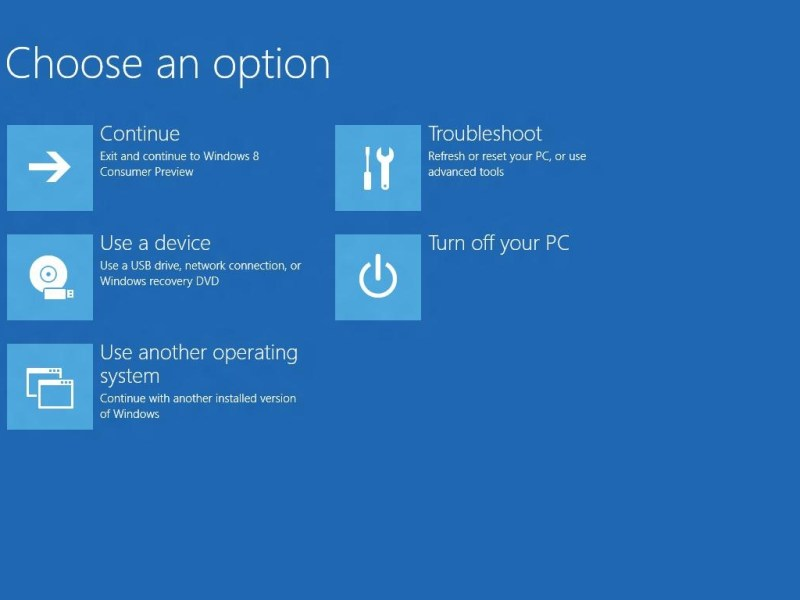Windows 8 Bootmenu