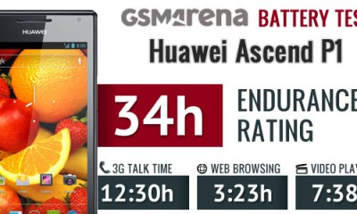 ascend p1 battery-test