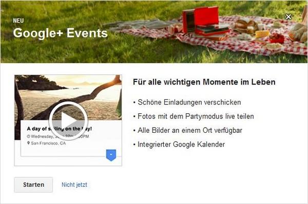 Google Plus Events