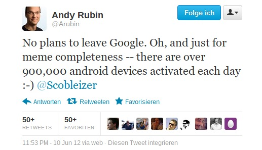 Twitter   Arubin  No plans to leave Google.-093243