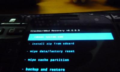 ClockworkMod Recovery 6 screensht