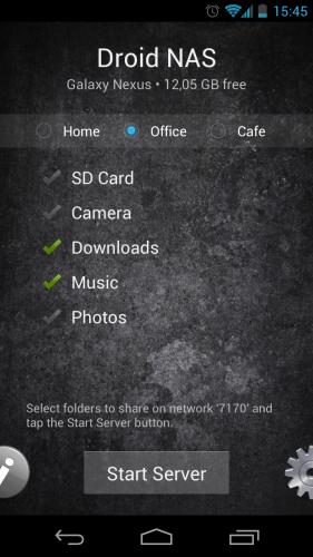 Droid NAS Screenshot