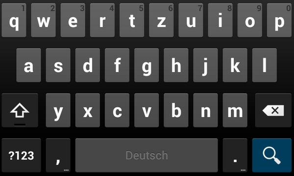 jelly bean tastatur screenshot