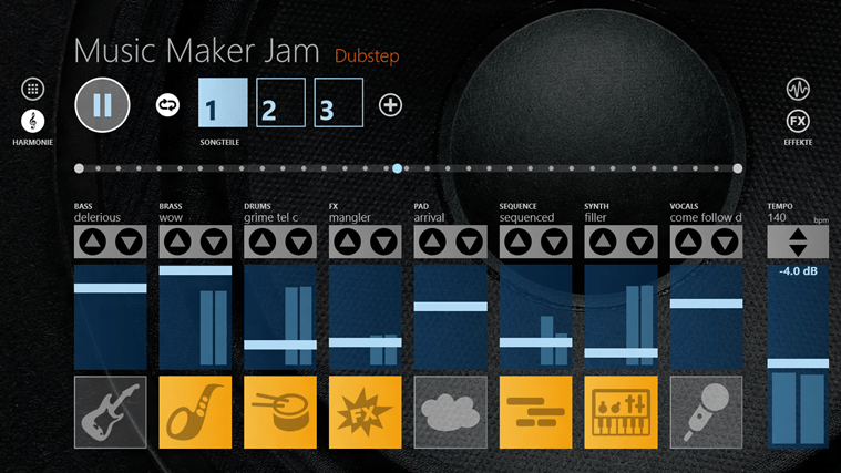 Magix Music Maker Jam Screenshot