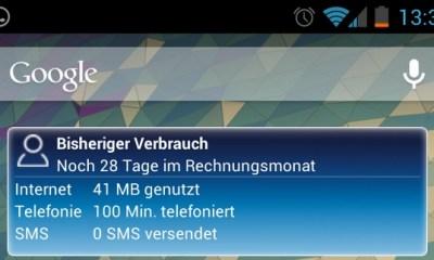 o2 widget screenshot