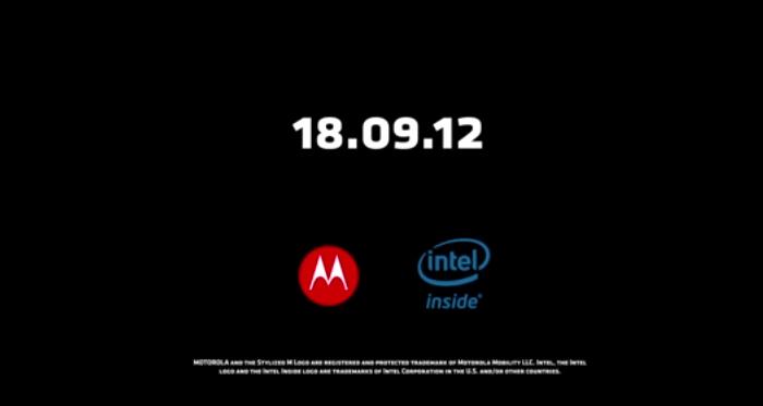 Motorola Intel Event September 2012