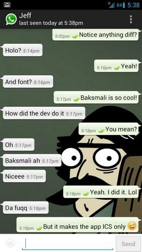 WhatsApp Holo Screenshot