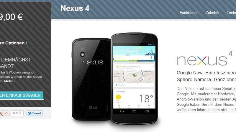 nexus 4 verkauf 04 dezember