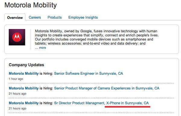 X Phone LinkedIn Job