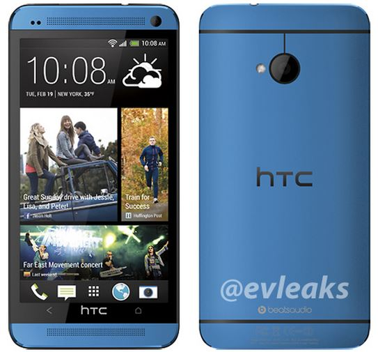 htc one blau leak