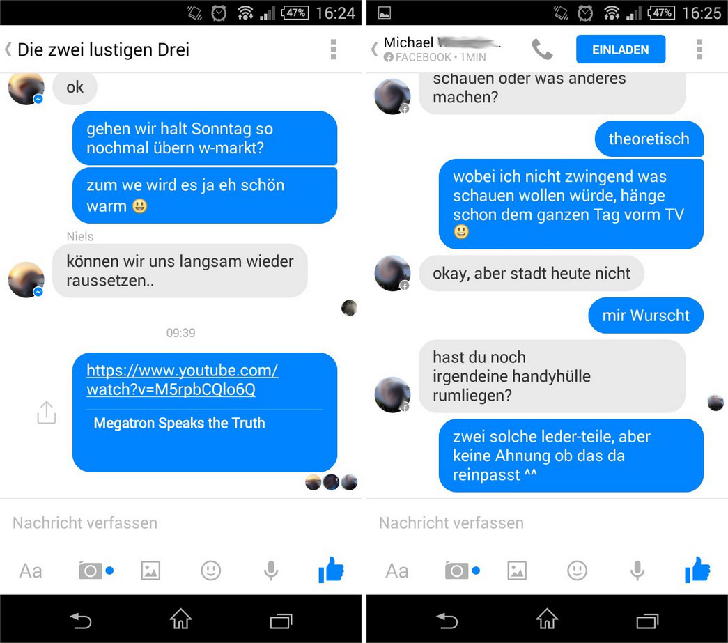 Facebook Messenger Gelesen