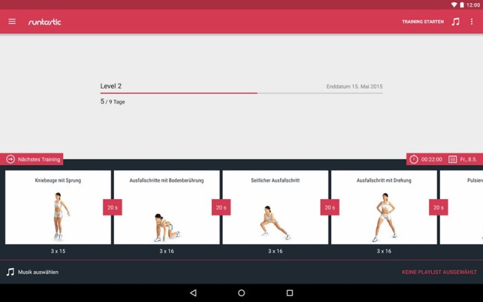 runtastic leg workout