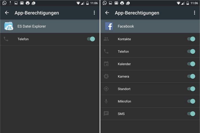 android m app berechtigungen