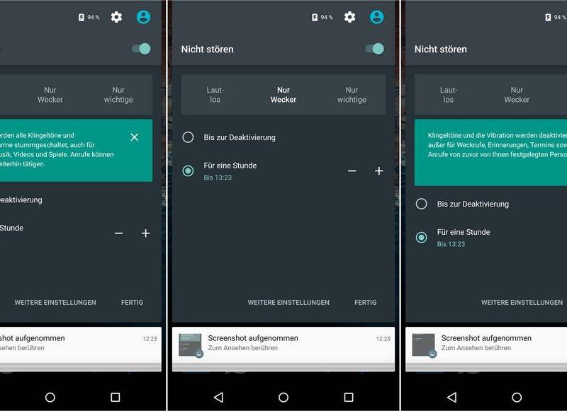 android m nicht stören quick settings