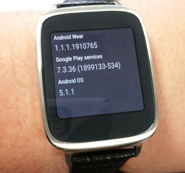 zenwatch android wear 5.1.1