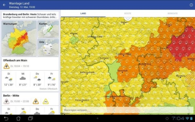 dwd warnwetter android