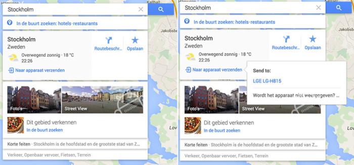 google-maps-verzenden