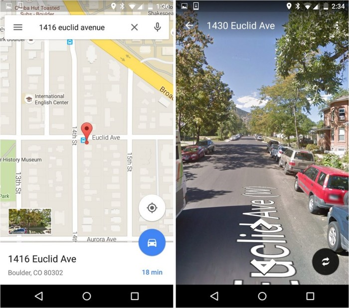 street view thumbnail android app