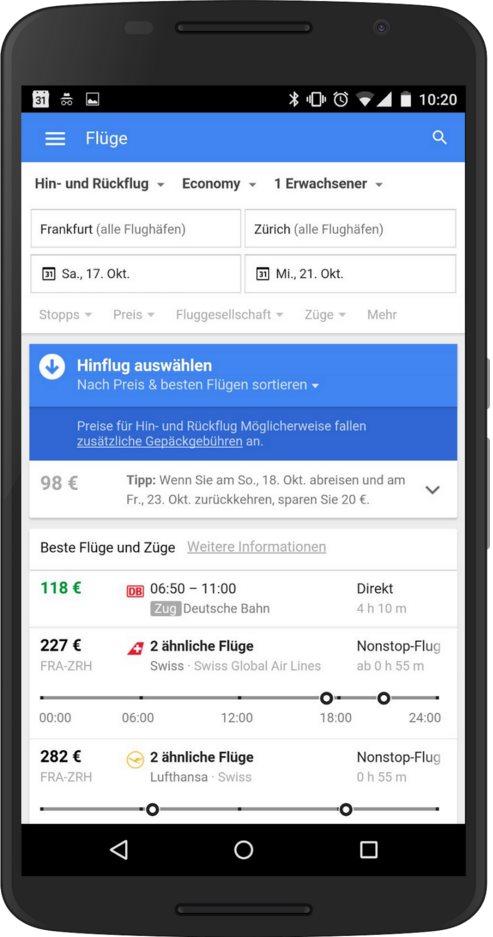 google flights bahn