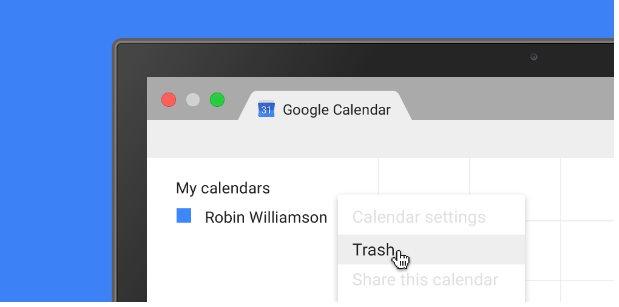 google kalender papierkorb