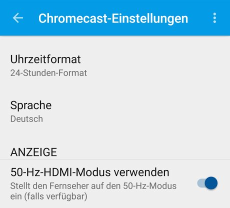 chromecast 50hz