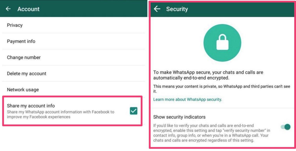 Verknüpfte Kontakte Whatsapp