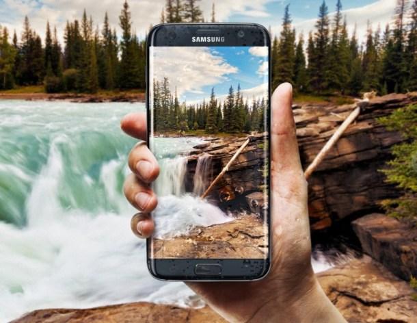 Samsung Galaxy S7 edge wasserfest