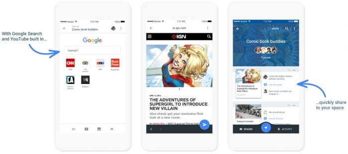 Google Spaces Android App