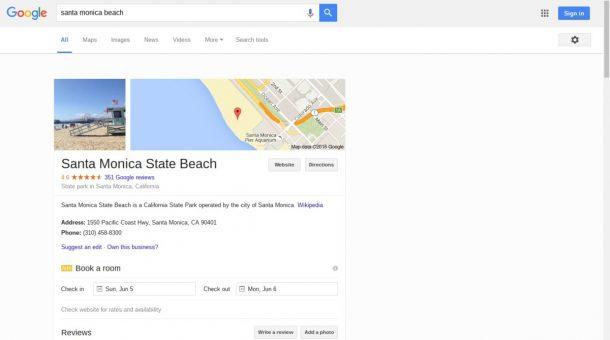 Google Suche Test Mai 2016