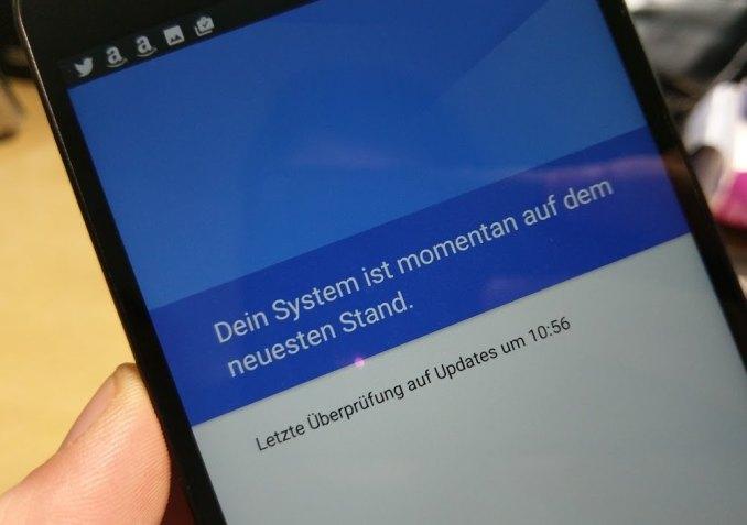 Android N Update Bildschirm Telefoninfo