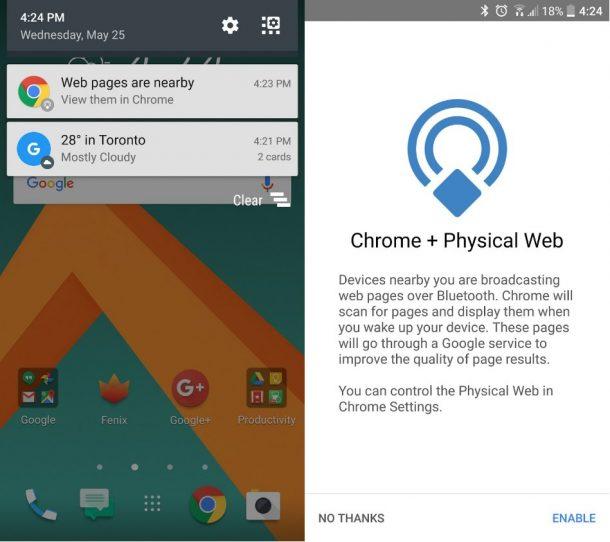Chrome Beacons