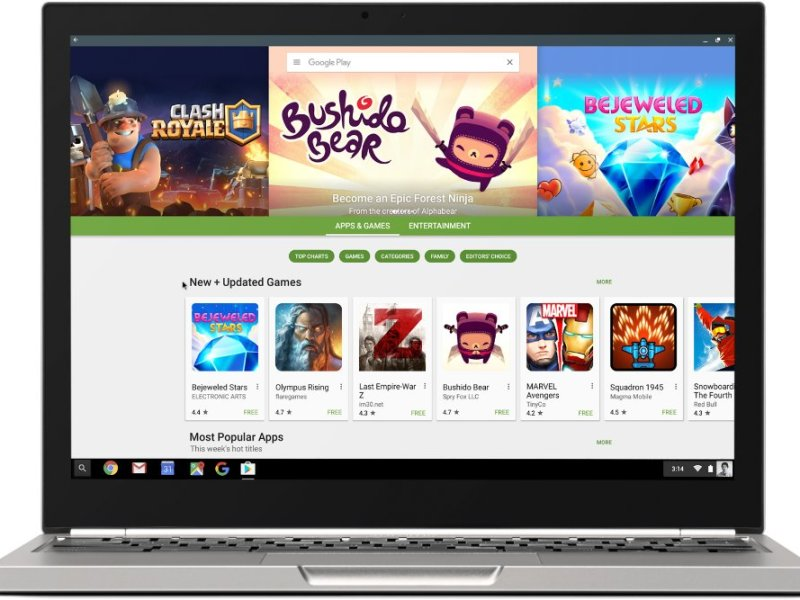 Google Play Chrome OS