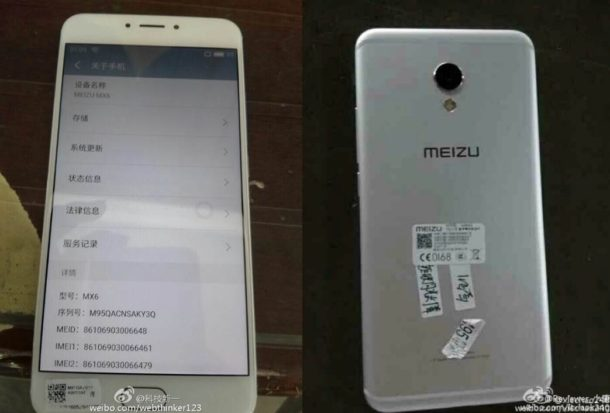 MEIZU MX6 Leak