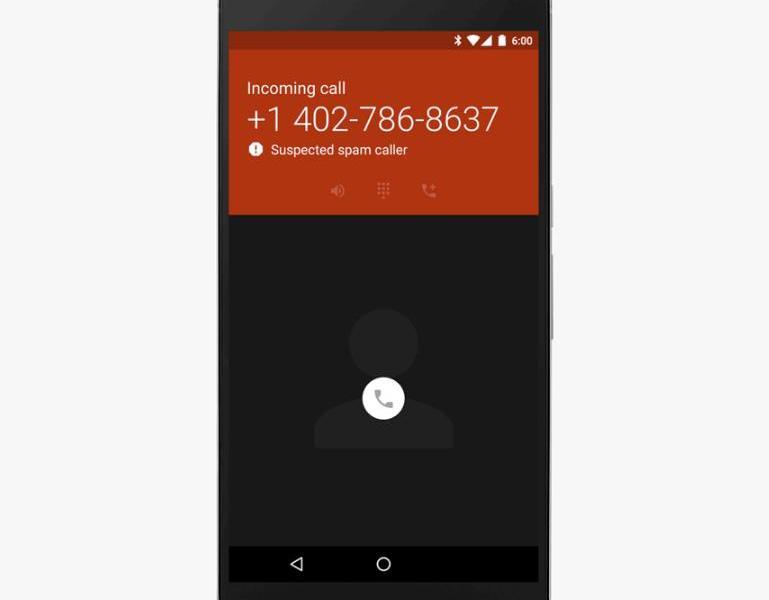 Nexus Telefon App Spam Erkennung