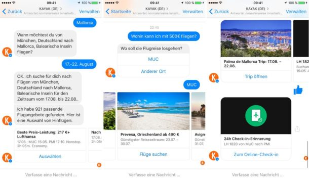 Kayak Facebook Messenger Bot