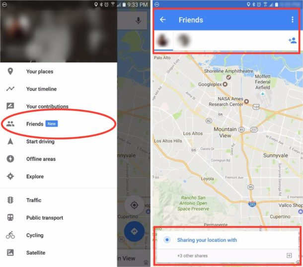 Google Maps Friends Leak