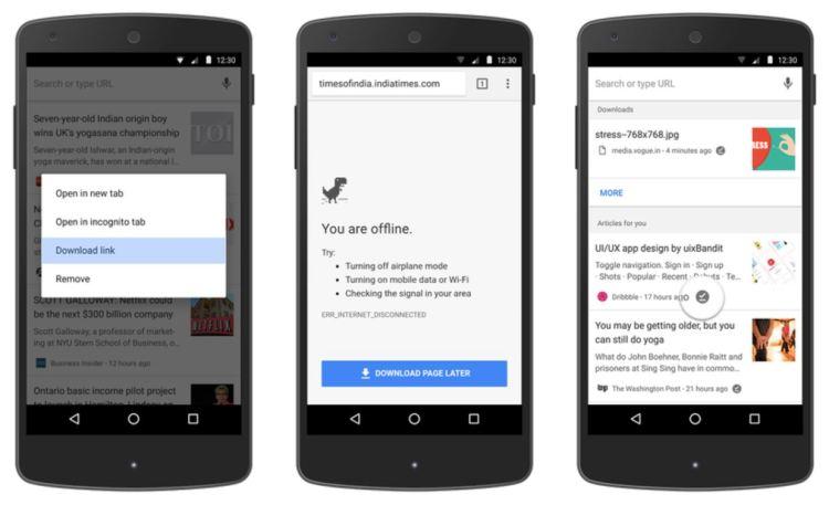 Chrome offline Funktionen Mai 2017