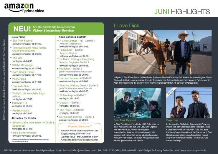 Amazon Juni Highlights 2017