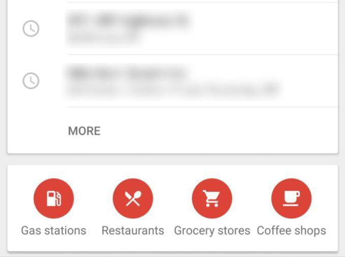Google Maps rote Shortcuts