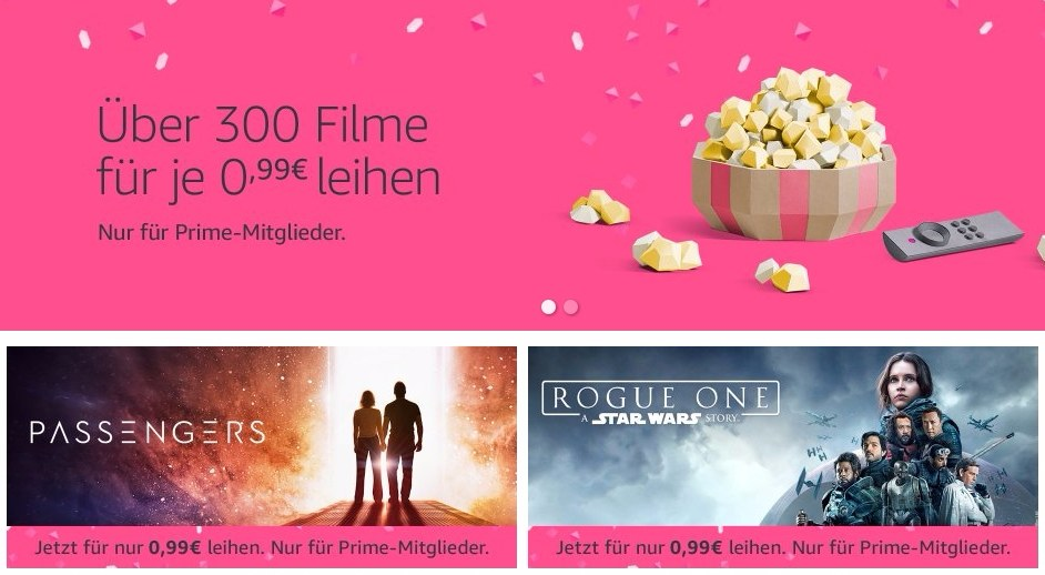 Amazon 300 Filme für 99 Cent