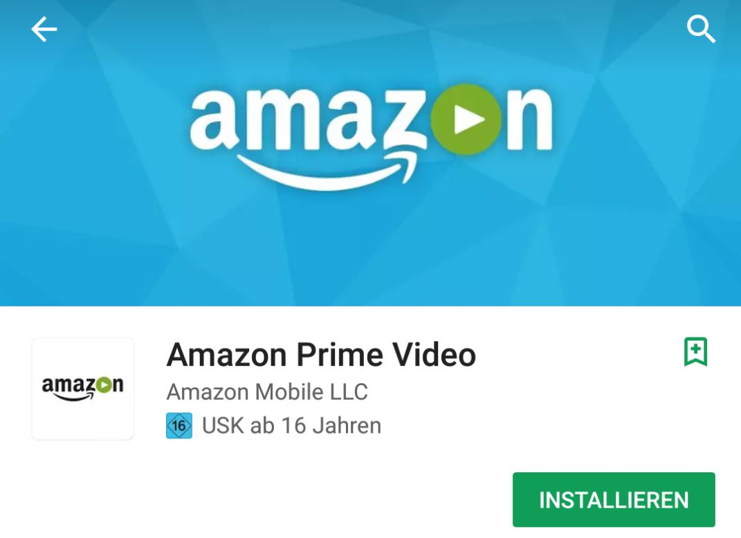 Amazon Prime Video Play Store