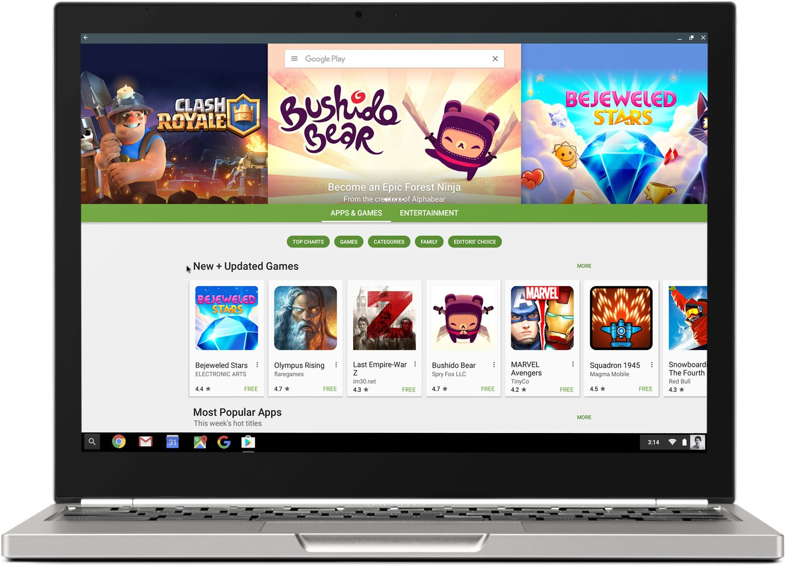 Chromebook mit Google Play Store Header 2017